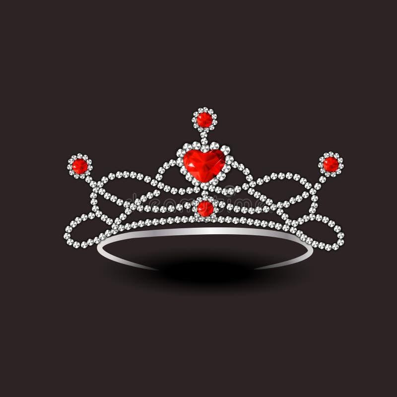 Concept of stylish diamond tiara. stock illustration