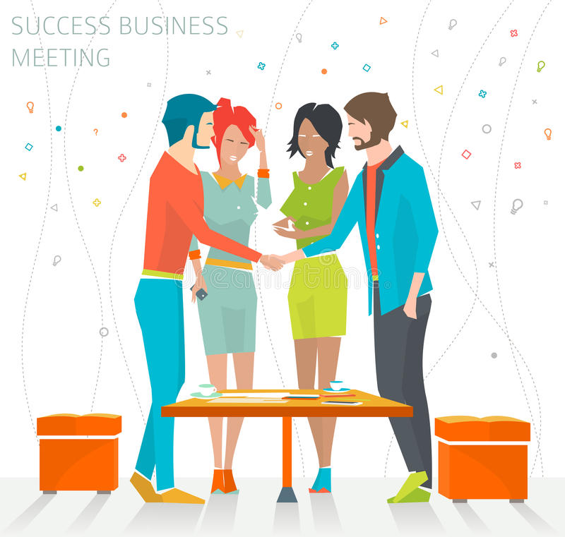 Concept succes commerciële vergadering stock illustratie