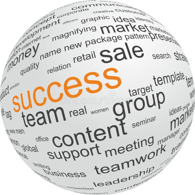 Concept succes in zaken stock illustratie
