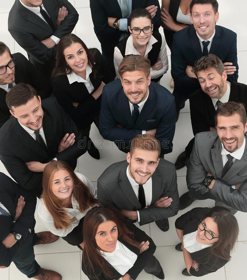 Closeup. professional large business team . royalty free stock photography