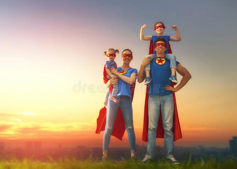 Concept of super family. royalty free stock photo