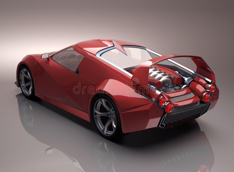 Download Concept Supercar stock illustration. Illustration of wheel - 26609310