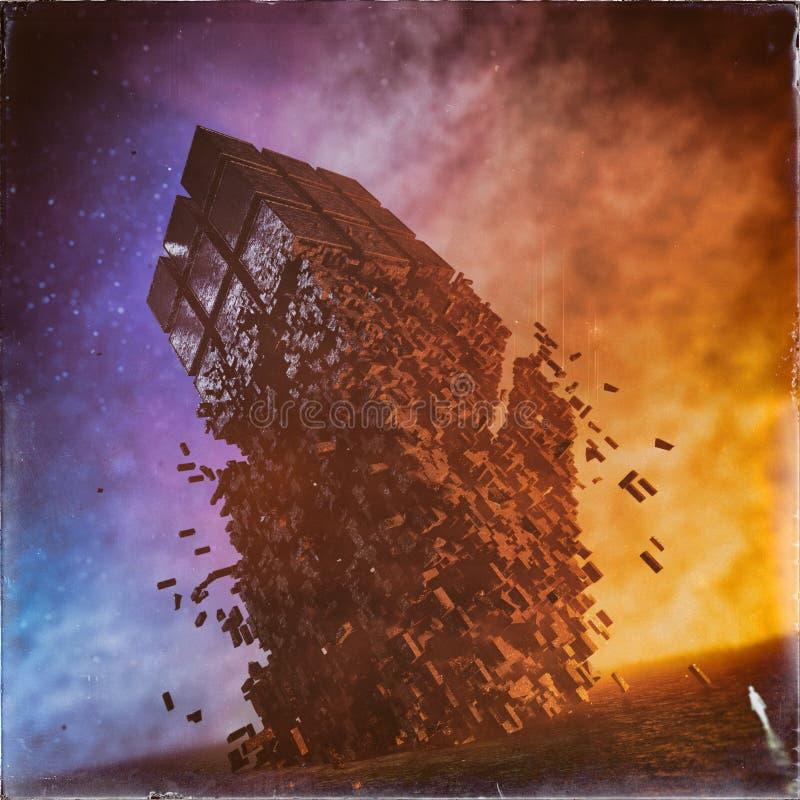 Concept surréaliste de cubes en imagination illustration libre de droits