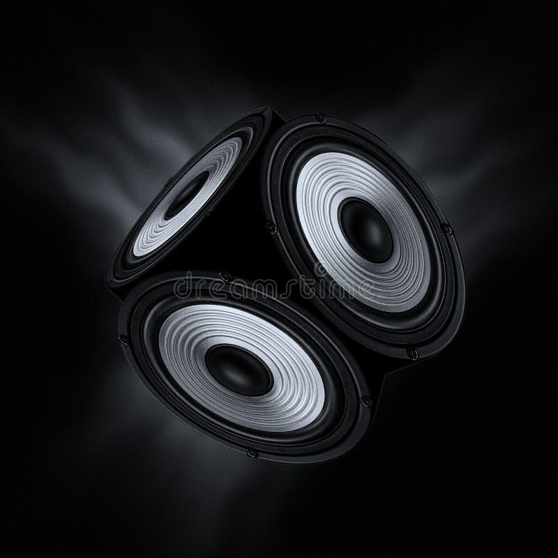 Concept of surround sound. stock photo