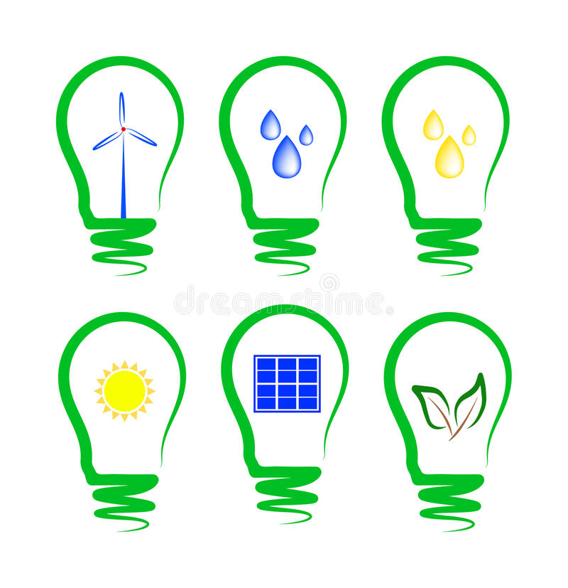 Download Concept, Symbolizing The Alternative Energy Stock Illustration - Image: 25145116