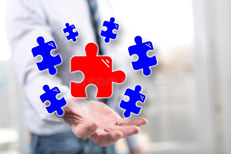 Concept of teamwork royalty free stock images