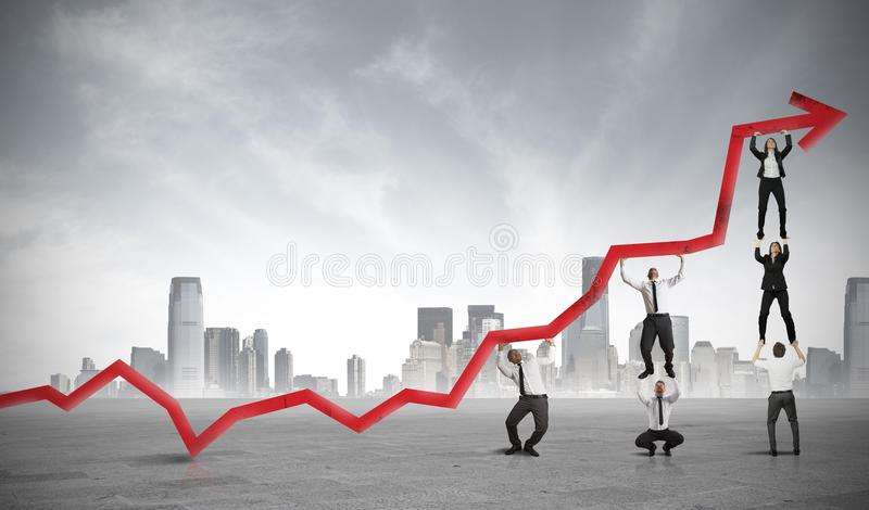 Teamwork and corporate profit. Concept of teamwork and corporate profit stock images