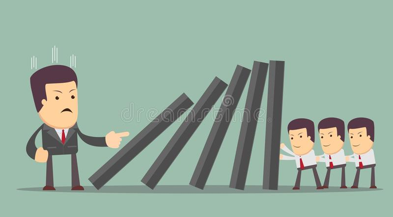 Concept of teamwork and corporate profit stock illustration