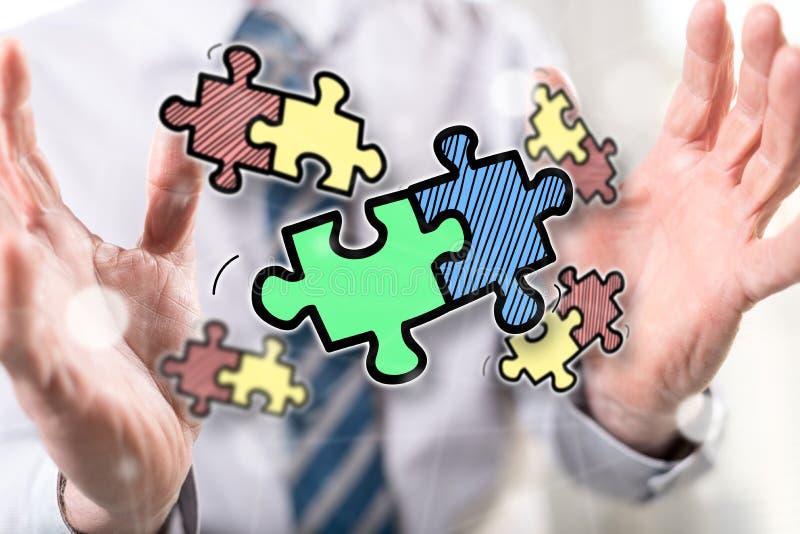 Concept of teamwork royalty free stock photos