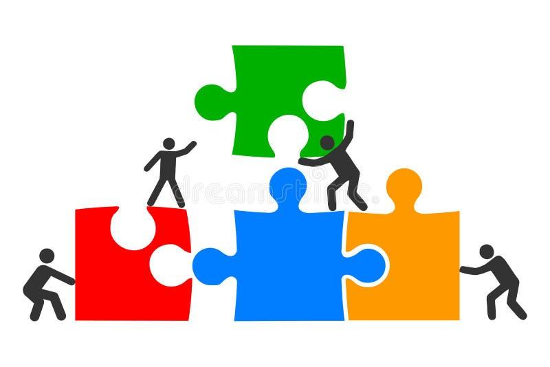 Concept teamwork, staff, partnership, cooperation - vector vector illustration
