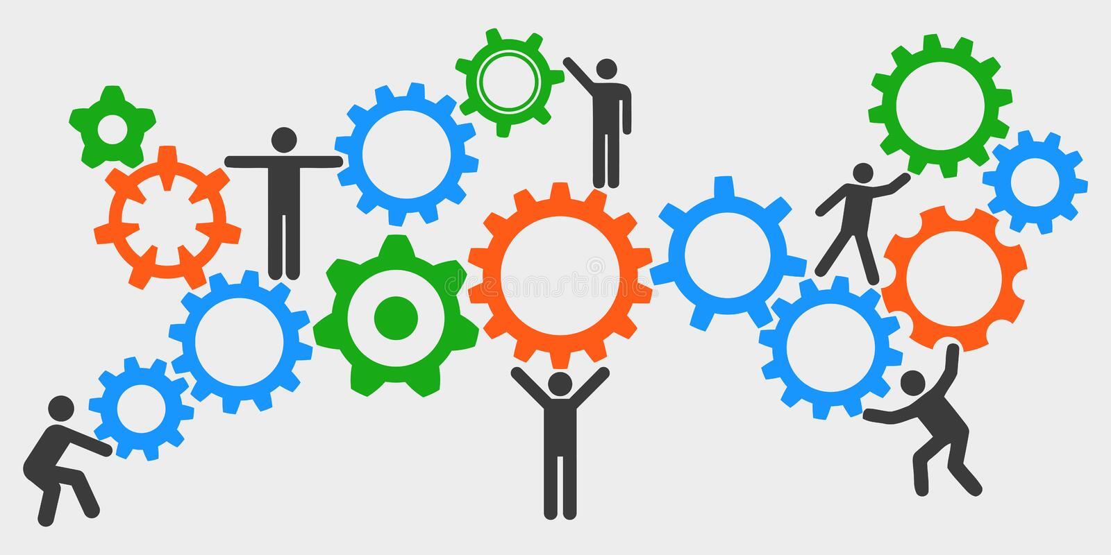 Concept teamwork, staff, partnership - for stock royalty free illustration