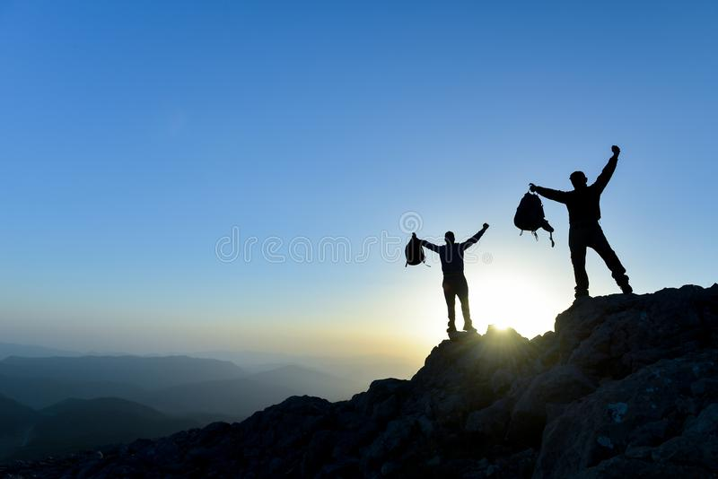 Concept of teamwork and trust;Concept of leadership and success royalty free stock images