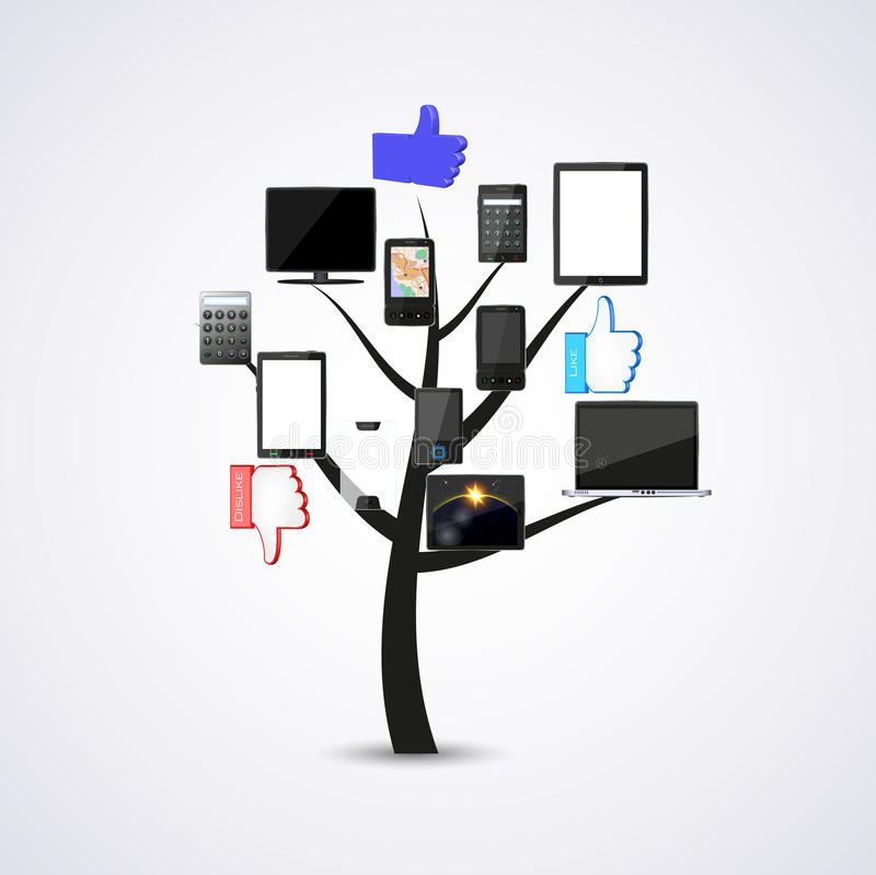 Concept technology tree. Vector illustration. This is file of EPS10 format royalty free stock photography