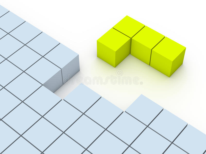Concept of tetris game stock illustration