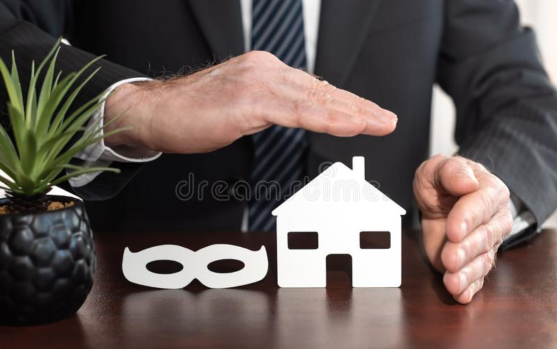 Concept of theft insurance stock image