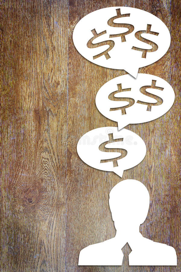 Concept of a thinking about income growth. Conceptual image royalty free stock photography