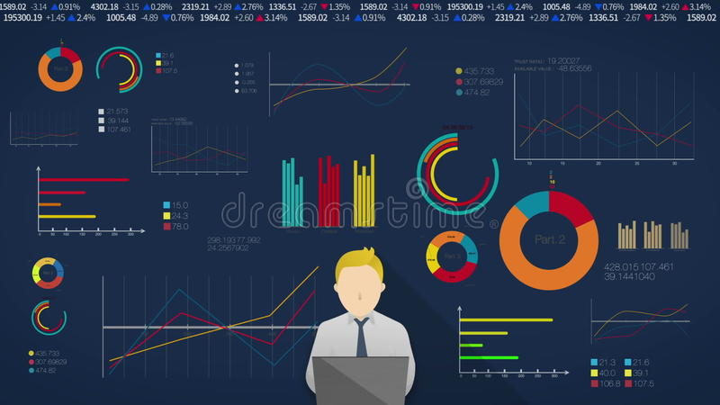 Concept Of Thinking Man For Financial Business Presentation Powerpoint Template Included Alpha