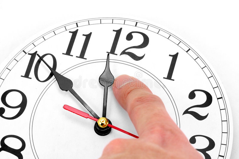 Concept tijdcontrole stock afbeelding