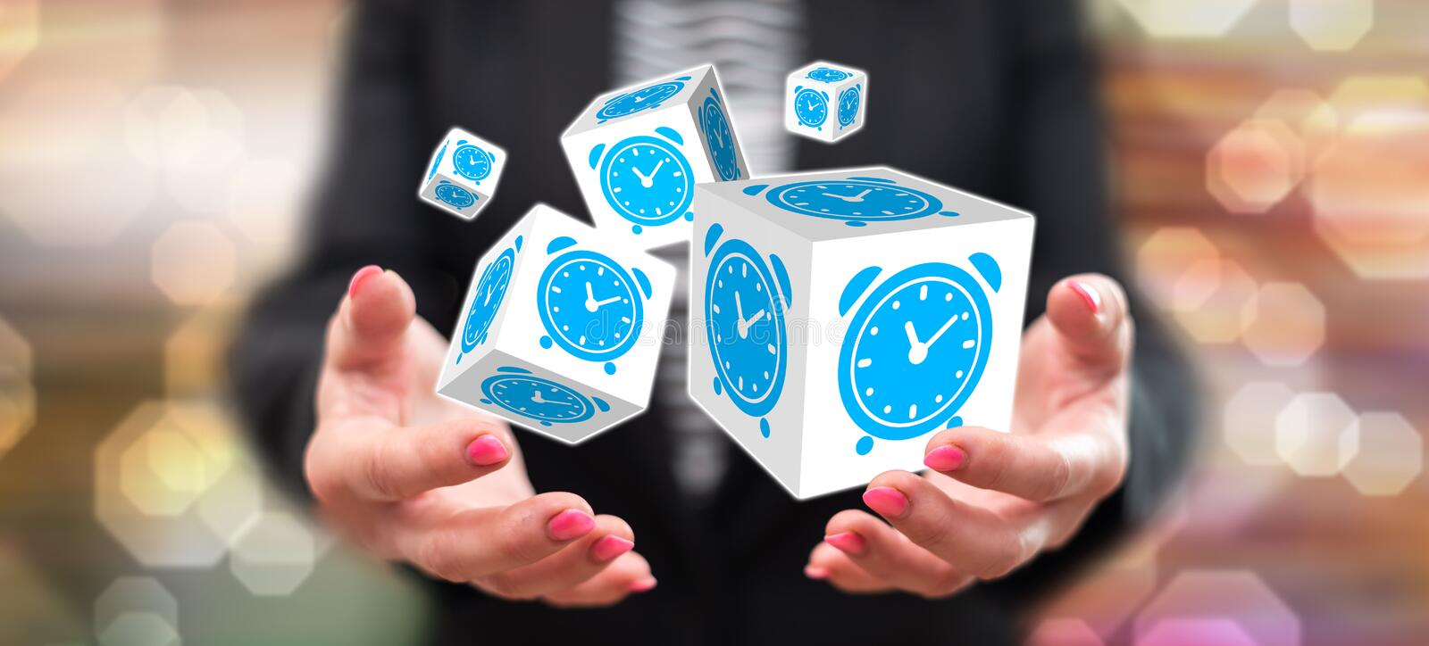 Concept of time management royalty free stock photography