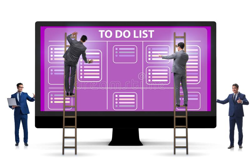 Concept of to do list with businessman stock image
