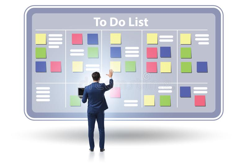 Concept of to do list with businessman royalty free stock photo