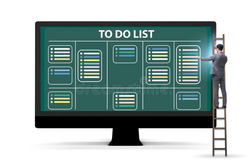 Concept of to do list with businessman royalty free stock photos