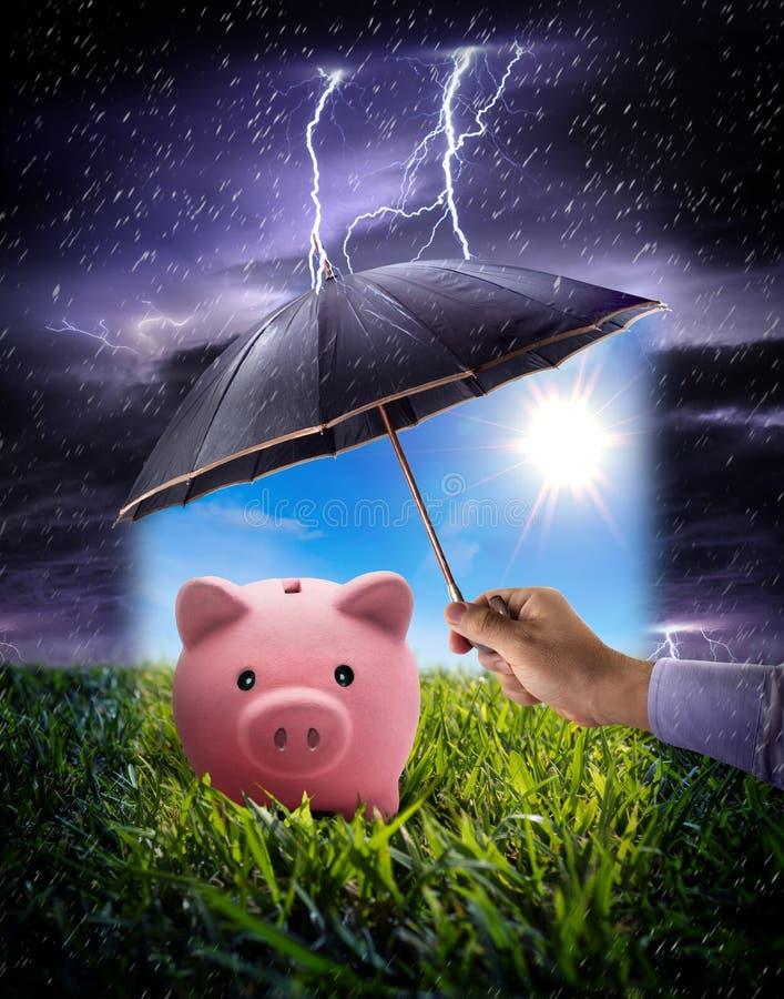 Concept to ensure savings royalty free stock image