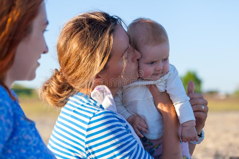 Concept for togetherness and bright future. stock images