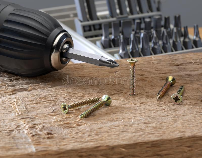 Concept tools and repair work stock images