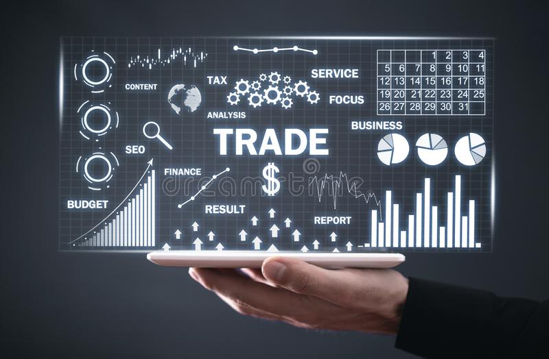 Concept of Trade. Finance and investment. Business concept royalty free stock image