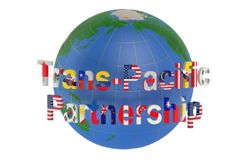 Concept transpacifique d'association illustration de vecteur