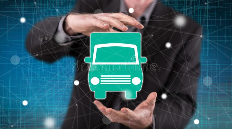 Concept of transportation royalty free stock photography