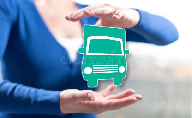 Concept of transportation royalty free stock images