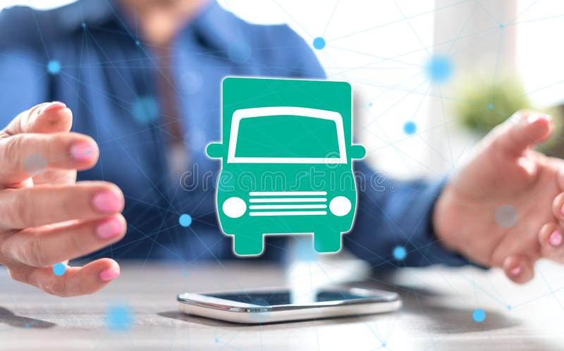Concept of transportation royalty free stock photo
