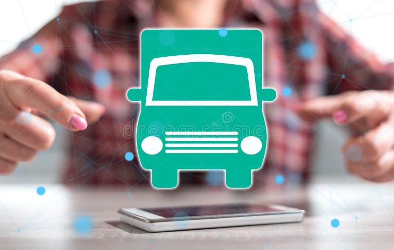 Concept of transportation vector illustration
