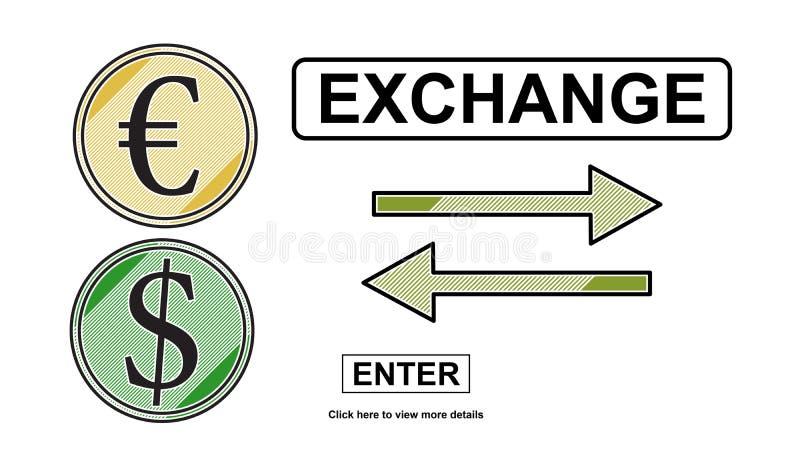 Concept uitwisseling stock illustratie