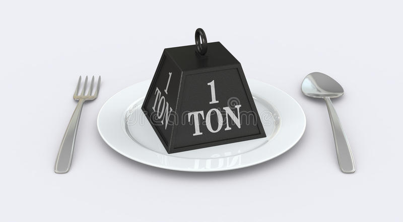 Concept of unhealthy food royalty free illustration