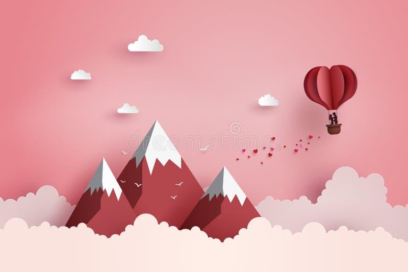 Concept valentijnskaart` s dag en huwelijk vector illustratie
