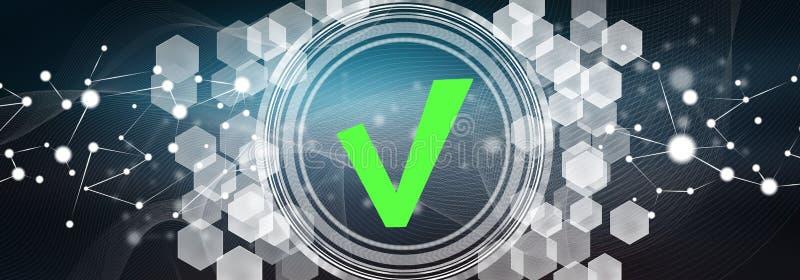 Concept of validation process stock illustration