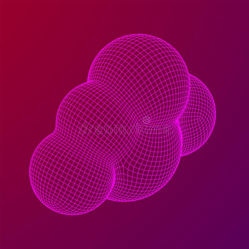 Concept van cloud computing-technologie royalty-vrije illustratie