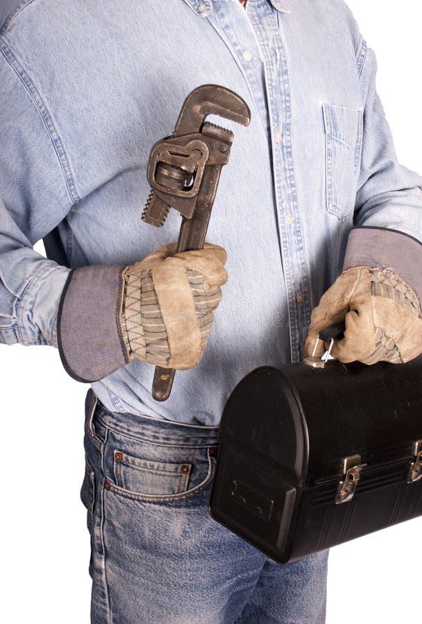Concept van de Arbeid van de Arbeider van de arbeider het Hand royalty-vrije stock fotografie