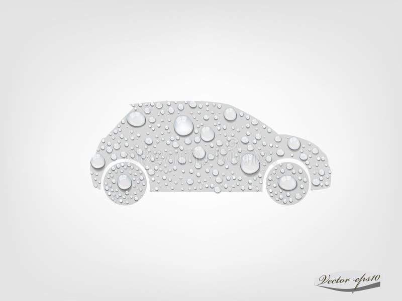 Concept van de auto het schone emissie stock illustratie