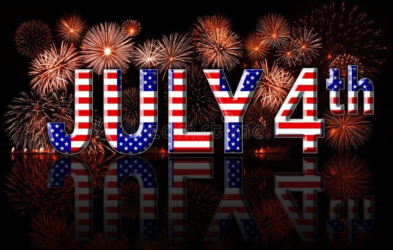 Concept van de dag het 4de Juli van de onafhankelijkheid royalty-vrije illustratie