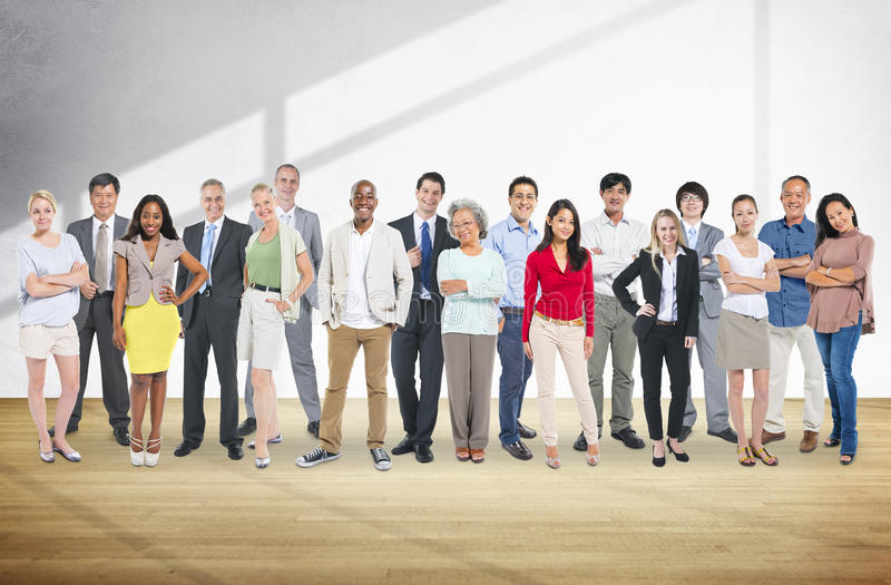 Concept van de de Aspiratie het Communautaire Groep van diversiteitsmensen stock fotografie