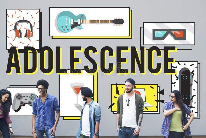 Concept van de de Cultuurlevensstijl van de adolescentie het Jonge Volwassen Jeugd stock fotografie
