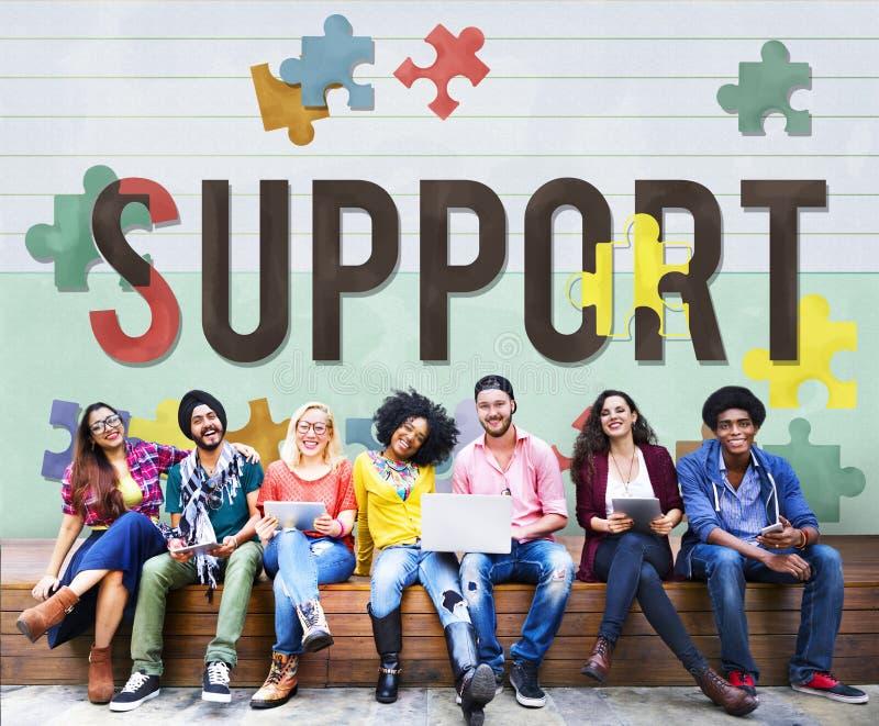 Concept van de de Liefdadigheidszorg van de steun het Sociale Hulp stock afbeeldingen