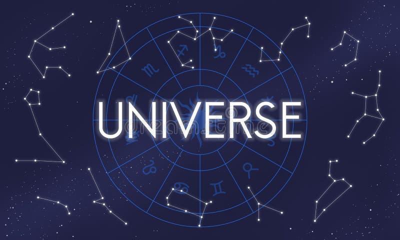 Concept van de de Oneindigheidswetenschap van Galxary van de heelal het Abstracte Klap royalty-vrije illustratie