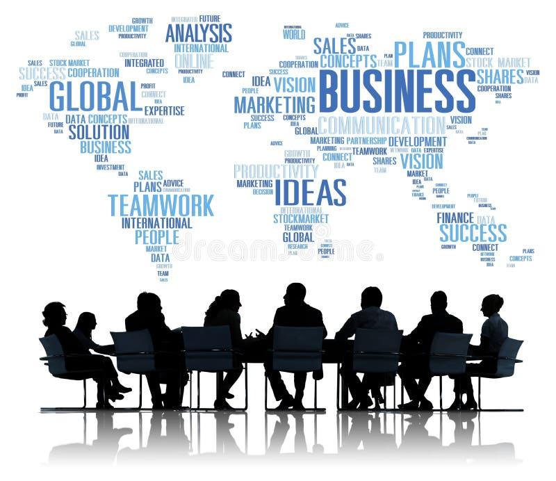 Concept van de de Organisatieonderneming van bedrijfs het Globale Wereldplannen stock afbeeldingen