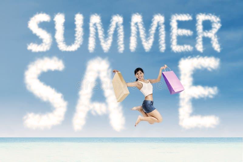 Concept van de de zomer het speciale verkoop royalty-vrije stock afbeeldingen