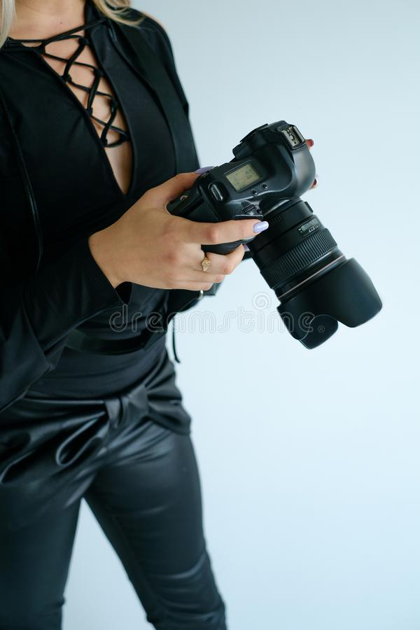 Concept van de de fotograaflevensstijl van de fotokunst het creatieve royalty-vrije stock afbeeldingen